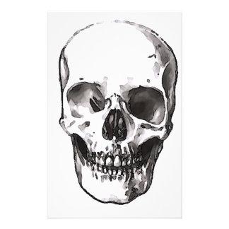 Papeterie Crâne noir et blanc