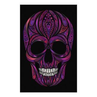 Papeterie Crâne rose