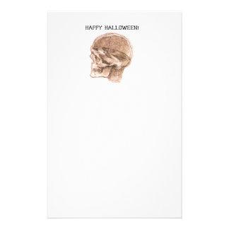 Papeterie Croquis de crâne de Halloween da Vinci