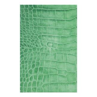 Papeterie Cuir croco vert