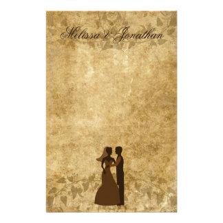 Papeterie de papier vintage de mariage de marié de