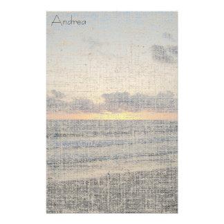 Papeterie de toile de coucher du soleil de plage