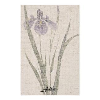 Papeterie de toile de regard d'iris de feuille
