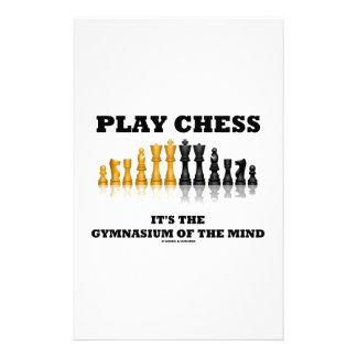 Papeterie Des échecs de jeu c'est le gymnase de l'esprit