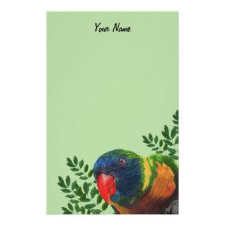Papeterie Dessin coloré de réalisme de perroquet d'ara sur