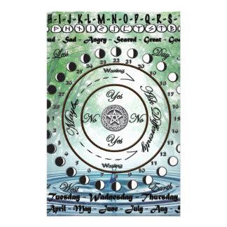 Papeterie Diagramme païen de pendule de Wiccan