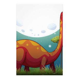Papeterie Dinosaure dans le domaine la nuit