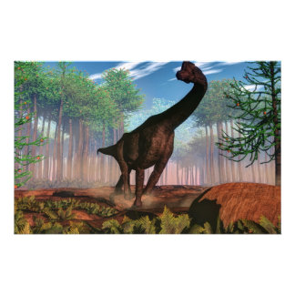 Papeterie Dinosaure de Brachiosaurus - 3D rendent