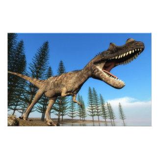 Papeterie Dinosaure de Ceratosaurus au rivage - 3D rendent