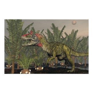 Papeterie Dinosaure de Cryolophosaurus - 3D rendent