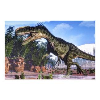 Papeterie Dinosaure de Monolophosaurus - 3D rendent