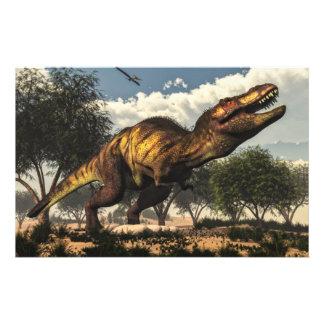 Papeterie Dinosaure de rex de Tyrannosaurus protégeant ses