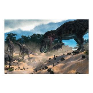 Papeterie Dinosaure de tarbosaurus de chasse de Saurolophus