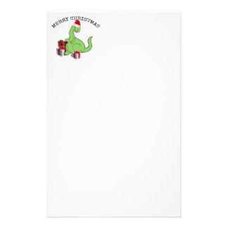Papeterie Dinosaure drôle mignon de Père Noël de Noël