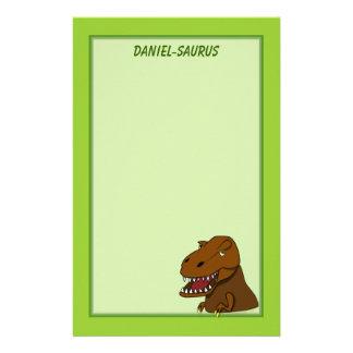 Papeterie Dinosaure effrayant de bande dessinée de Rex de
