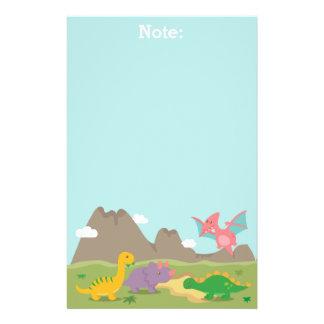 Papeterie Dinosaures colorés mignons pour des enfants