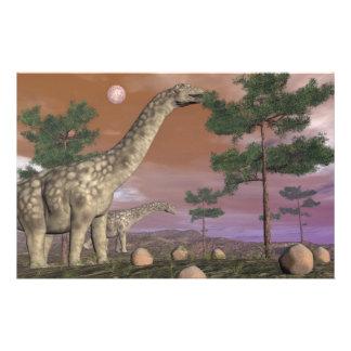 Papeterie Dinosaures d'Argentinosaurus - 3D rendent
