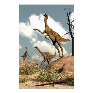 Papeterie Dinosaures de Gallimimus - 3D rendent
