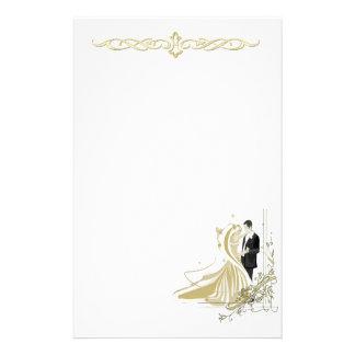 Papeterie élégante de mariage de blanc et d'or