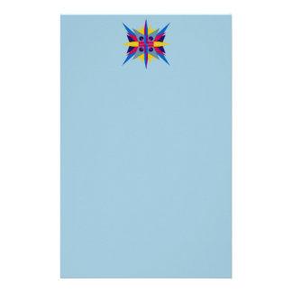 Papeterie En-tête de lettre avec l'en-tête d'étoile d'art