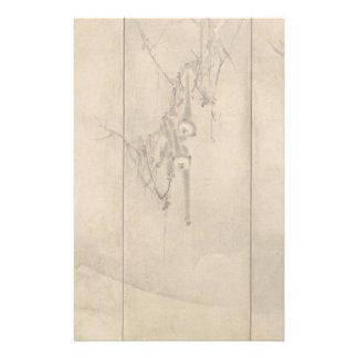 Papeterie Encre japonaise sur les primats de papier et le