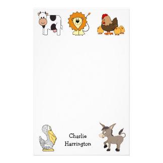 Papeterie Enfants nommés faits sur commande d'illustrations