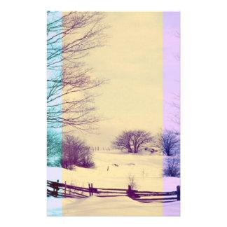 Papeterie Ensemble coloré de scène d'hiver