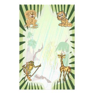 Papeterie Ensemble de baby shower de jungle de rayures de