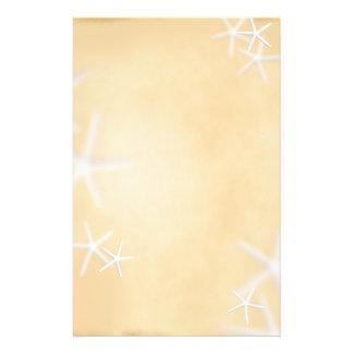Papeterie Étoiles de mer sur le papier à lettres de Brown