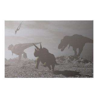 Papeterie Extinction des dinosaures - 3D rendent