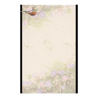 Papeterie Faune florale de fleurs de papillon de fritillaire