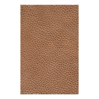 Papeterie Faux Brown naturel en cuir