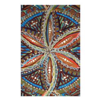 Papeterie Fleur de mandala tribal terreux de la vie