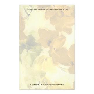 Papeterie Fleurs colorées par chute