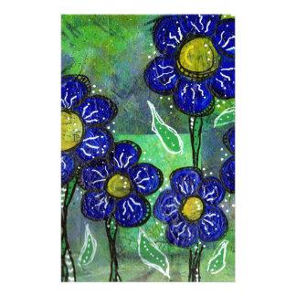 Papeterie Fleurs de ballon bleues