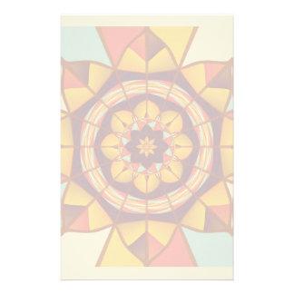 Papeterie Flourish géométrique multicolore