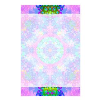 Papeterie Fractale pourpre et verte de kaléidoscope