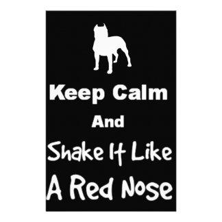 Papeterie Gardez le calme et secouez-le aiment un nez rouge