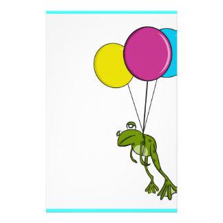 Papeterie Grenouille flottant avec des ballons