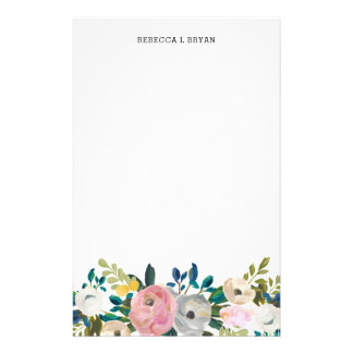 Papeterie Guirlande florale peinte de jardin de ressort de