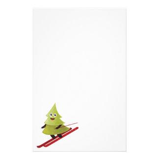 Papeterie Hiver heureux de ski de pin