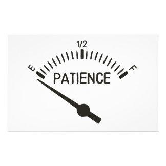 Papeterie Hors de la mesure de gaz de la patience