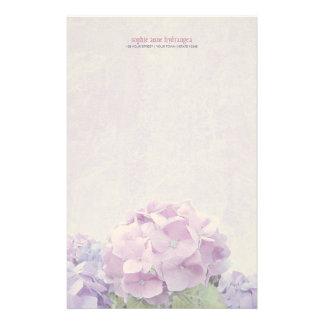 Papeterie Hortensias en pastel