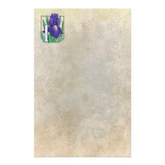 Papeterie I pour le monogramme de fleur d'iris