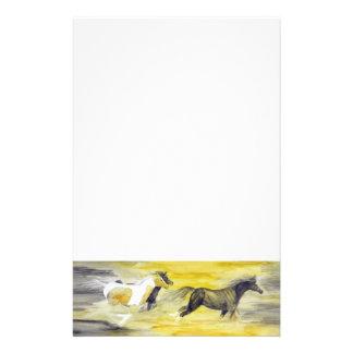 Papeterie Illustration abstraite de cheval de gris et de