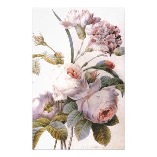 Papeterie illustration botanique vintage, rose de rose