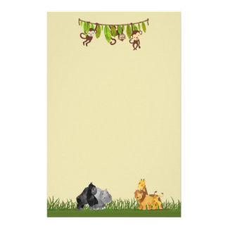 Papeterie Illustration d'animal de jungle de safari
