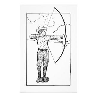 Papeterie Illustration d'Archer de garçon