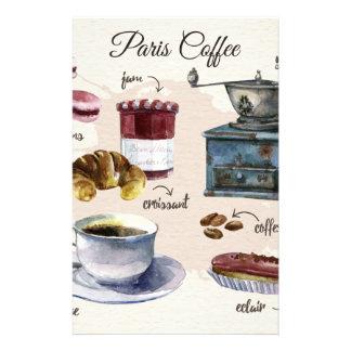 Papeterie Illustration de festins de café et de pâtisserie