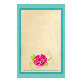 Papeterie Illustration de rose de rose